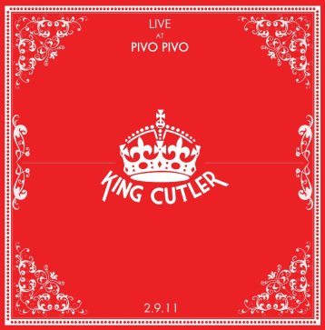 Cover art design for local Glasgow post-punk band King Cutler