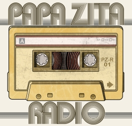 Promotional artwork for Glasgow rock band Papa Zita